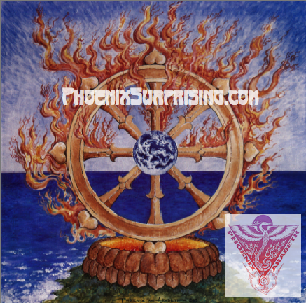 Wheel of Dharma by Phoenix & Arabeth