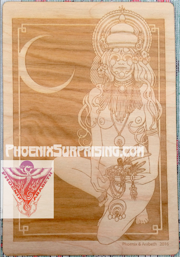 Treasures of the Goddess by Phoenix & Arabeth (laser engraved on wood)